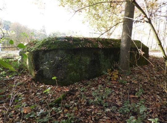 Definitieve bescherming bruggenhoofd met Duitse bunkers van de Turnhoutkanalstellung uit de Eerste Wereldoorlog in