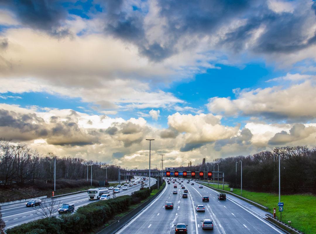 auto's op de Antwerpse Ring