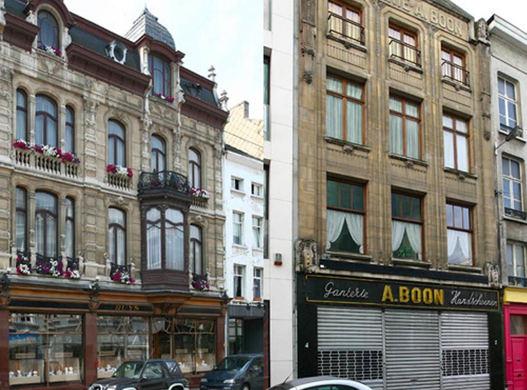 Definitieve bescherming handschoenenwinkel Ganterie A. Boon en het juwelenhuis Ruys in Antwerpen